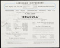 Miscellaneous Collectibles:General, 1951 Dracula Multi-Signed Program with Bela Lugosi....