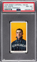 Baseball Cards:Singles (Pre-1930), 1909-11 T206 Sweet Caporal 150/30 Doc White (Chicago, Portrait) PSA NM-MT 8 - Pop Four, Only One Higher....