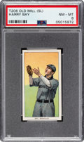 Baseball Cards:Singles (Pre-1930), 1909-11 T206 Old Mill Harry Bay PSA NM-MT 8 - Pop Two, Two Higher. ...