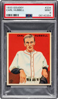 Baseball Cards:Singles (1930-1939), 1933 Goudey Carl Hubbell #234 PSA Mint 9 - Pop Four, One Higher....
