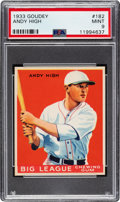 Baseball Cards:Singles (1930-1939), 1933 Goudey Andy High #182 PSA Mint 9 - Pop Three, One Higher....