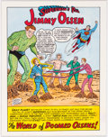 Original Comic Art:Splash Pages, Sheldon Moldoff Superman's Pal, Jimmy Olsen #72 Re-creation of Splash Page Original Art (1994). ...