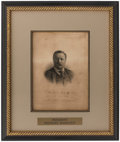 Autographs:Photos, 1914 President Theodore Roosevelt Signed Framed Print....