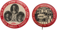 Industrial Workers of the World [I.W.W.]: Pair of Ultra Rare 1916 Protest Pins