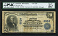 National Bank Notes:Wisconsin, Viroqua, WI - $20 1902 Plain Back Fr. 652 The First NB Ch. # 8529 PMG Choice Fine 15.. ...