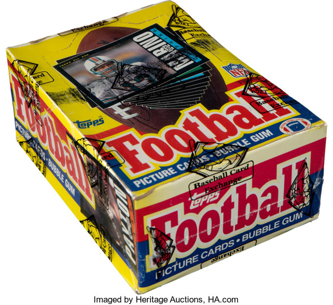1985 Topps Football Wax Box With 36 Unopened Packs Football