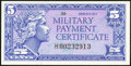 Military Payment Certificates:Series 611, Series 611 5¢ Replacement Choice New.. ...