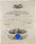 Autographs:U.S. Presidents, Theodore Roosevelt: Signed Naval Commission....
