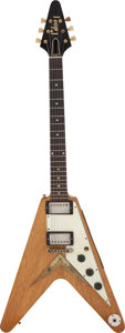 Musical Instruments:Electric Guitars, The Kinks-Dave Davies 1958 Gibson Flying V Korina Solid BodyElectric Guitar, Serial # 8-4643....