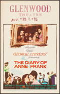 "Movie Posters:Drama, The Diary of Anne Frank (20th Century Fox, 1959). Very Fine-. Window Card (14"" X 22""). Drama.. ..."