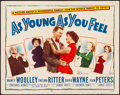 """Movie Posters:Comedy, As Young As You Feel (20th Century Fox, 1951). Rolled, Fine+. Half Sheet (22"""" X 28""""). Comedy.. ..."""