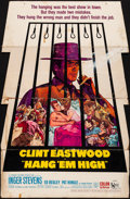 """Movie Posters:Western, Hang 'Em High (United Artists, 1968). Folded, Very Good+. Standee (37.5"""" X 57.5""""). Western.. ..."""