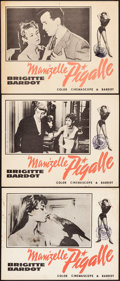"""Movie Posters:Foreign, Mam'zelle Pigalle (Films Around the World, 1958). Overall: Fine/Very Fine. Lobby Cards (3) (11"""" X 14""""). Foreign.. ... (Total: 3 Items)"""