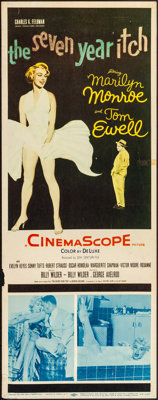 "The Seven Year Itch (20th Century Fox, 1955). Rolled, Fine. Insert (14"" X 36""). Comedy"