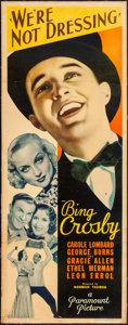 "Movie Posters:Comedy, We're Not Dressing (Paramount, 1934). Fine- on Linen. Insert (14"" X36""). Comedy. . ..."