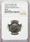 Colombia, Colombia: Republic nickel-plated steel Specimen Pattern 50 Centavos 1969 SP63 NGC,...