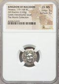 Ancients:Greek, Ancients: MACEDONIAN KINGDOM. Perseus (179-168 BC). AR drachm (16mm, 2.69 gm, 11h). NGC Choice MS 5/5 - 5/5....