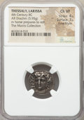 Ancients:Greek, Ancients: THESSALY. Larissa. Ca. 356-342 BC. AR drachm (20mm, 5.95gm, 5h). NGC Choice VF 4/5 - 3/5, Fine Style....