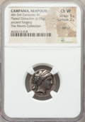 Ancients: CAMPANIA. Neapolis. 4th-3rd centuries BC. AR/AE didrachm or stater fourree (19mm, 6.95 gm, 11h). NGC Choice VF...