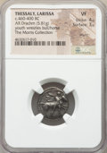 Ancients:Greek, Ancients: THESSALY. Larissa. Ca. 460-400 BC. AR drachm (18mm, 5.81gm, 6h). NGC VF 4/5 - 3/5, marks....