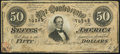 Confederate Notes:1864 Issues, T66 $50 1864 PF-2 Cr. 496 About Uncirculated.. ...