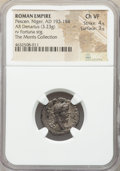 Ancients:Roman Imperial, Ancients: Pescennius Niger, usurper in the East (AD 193-194). ARdenarius (17mm, 3.23 gm, 6h). NGC Choice VF 4/5 - 3/5....