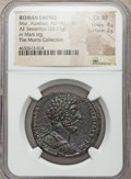 Ancients:Roman Imperial, Ancients: Marcus Aurelius, as Augustus (AD 161-180). AE sestertius(32mm, 25.12 gm, 11h). NGC Choice XF 4/5 - 2/5....