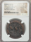 Ancients:Roman Imperial, Ancients: Nerva (AD 96-98). AE sestertius (33mm, 28.51 gm, 6h). NGCFine 4/5 - 3/5....