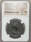 Ancients:Roman Imperial, Ancients: Faustina Junior (AD 147-175/6). AE sestertius (33mm,28.37 gm, 6h). NGC AU 4/5 - 2/5, Fine Style....
