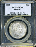 Coins of Hawaii: , 1883 50C Hawaii Half Dollar MS64 PCGS. ...
