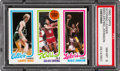Basketball Cards:Singles (1980-Now), 1980 Topps Larry Bird/Julius Erving/Magic Johnson PSA NM-MT 8....