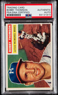 Baseball Cards:Autographs, Signed 1956 Topps Bobby Thomson #257 PSA/DNA Auto Authentic. ...