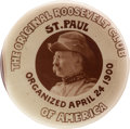 Political:Pinback Buttons (1896-present), Theodore Roosevelt: Great Minnesota Roosevelt Club Real Photo Picture Pin....