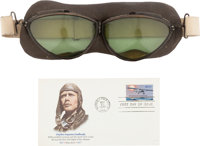 Charles A. Lindbergh: A Pair of Iconic Pilot's Goggles Worn by the Legendary Pilot