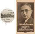 Political:Small Paper (1896-present), Harry S Truman: Very Rare District Judge Election Card.... (Total:2 Items)