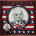 Political:Pinback Buttons (1896-present), Harry S Truman: Golden Wreath Picture Pins in Both Sizes....