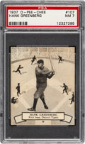 Baseball Cards:Singles (1930-1939), 1937 O-Pee-Chee Hank Greenberg #107 PSA NM 7....
