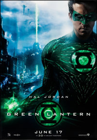 """Green Lantern (Warner Brothers, 2011). Rolled, Very Fine. Bus Shelters (4) (47"""" X 68.5"""") DS Advance, 4 Styles..."""
