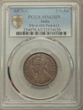 India:British India, India: British India. Victoria 1/4 Anna 1879-c MS63 Brown PCGS,...