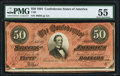 Confederate Notes:1864 Issues, T66 $50 1864 PF-8 Cr. 499 PMG About Uncirculated 55.. ...
