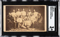 Baseball Cards:Singles (Pre-1930), Circa 1860 CDV Brooklyn Atlantics Baseball Card SGC VG 3. ...