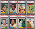 Baseball Cards:Lots, 1961 Topps Baseball PSA NM 7 Graded Collection (13). ...