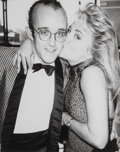 Photographs:Gelatin Silver, Andy Warhol (American, 1928-1987). Keith Haring and Cornelia Guest, 1985. Gelatin silver. 10 x 8 inches (25.4 x 20.3 cm)...