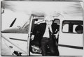 Photographs:Gelatin Silver, Andy Warhol (American, 1928-1987). Andy Warhol on a Seaplane in Montauk, 1982. Gelatin silver. 6-5/8 x 6-5/8 inches (16....