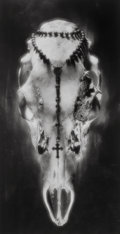 Photographs:Gelatin Silver, Ruth Bernhard (American, 1905-2006). Skull and Rosary, Pennsylvania, 1945. Gelatin silver, printed later. 18-1/4 x 9-1/2...