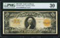 Large Size:Gold Certificates, Fr. 1187 $20 1922 Mule Gold Certificate PMG Very Fine 30.. ...