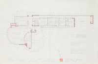 Frank Lloyd Wright (American, 1867-1959) Drawings and Renderings of the Duey Wright House, Wausau, Wisconsin