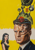 Mainstream Illustration, Edmund (Emsh) Emshwiller (American, 1925-1990). Mind Mate,Amazing Stories digest cover, July 1964. Oil on board. 15.5x...
