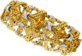 Estate Jewelry:Bracelets, Diamond, Citrine, Yellow Sapphire, Platinum, Gold Bracelet. ...