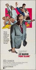 """Movie Posters:Crime, Point Blank (MGM, 1967). Folded, Very Fine-. Three Sheet (41"""" X 79""""). Crime.. ..."""